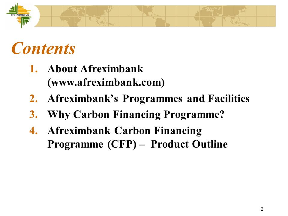 3 1.About Afreximbank 1.1 Background: Established in 1993 as a multilateral financial institution.