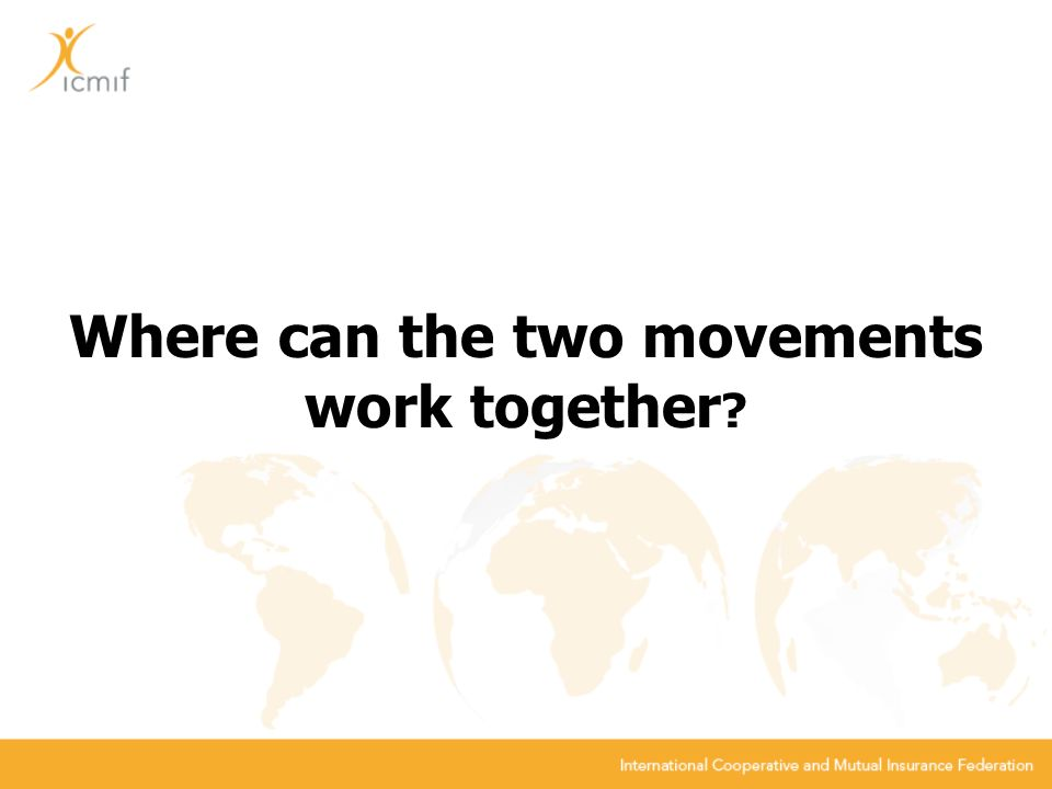 Where can the two movements work together