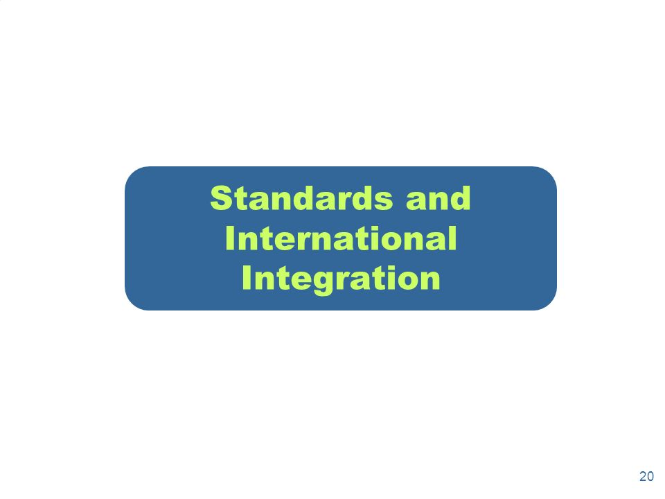 20 Standards and International Integration