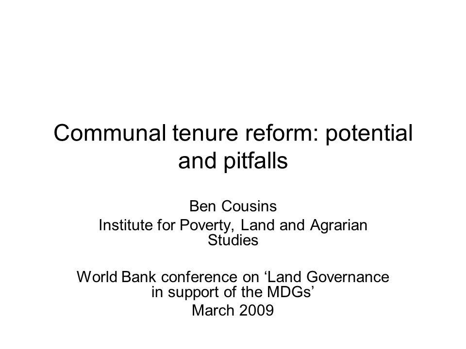 What is communal tenure.