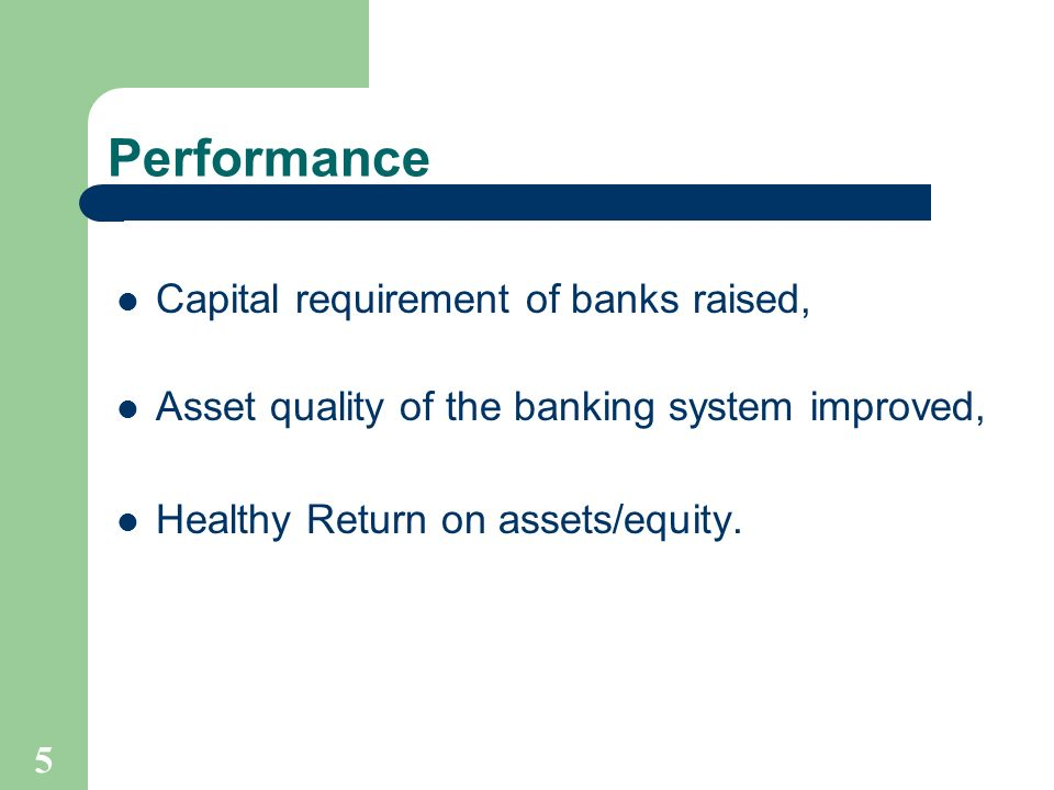 6 Capital Adequacy of the Banks Measures Taken (2002-2003) Minimum capital requirement on risk-weighted basis was raised from 8% to 9%; Minimum capital requirement raised from Tk.