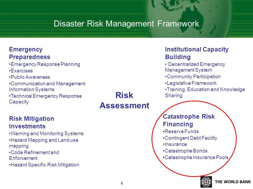 Disaster Risk Management Framework Risk Assessment Institutional Capacity Building Decentralized Emergency Management System Community Participation L