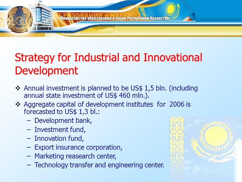 Strategic planning system In 1997 - Kazakhstan 2030 Development Strategy.