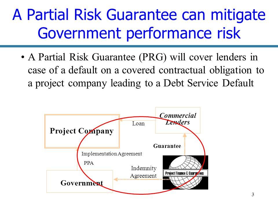 14 Policy Based Guarantee: Leveraging adjustment loans US $119m Banks max.