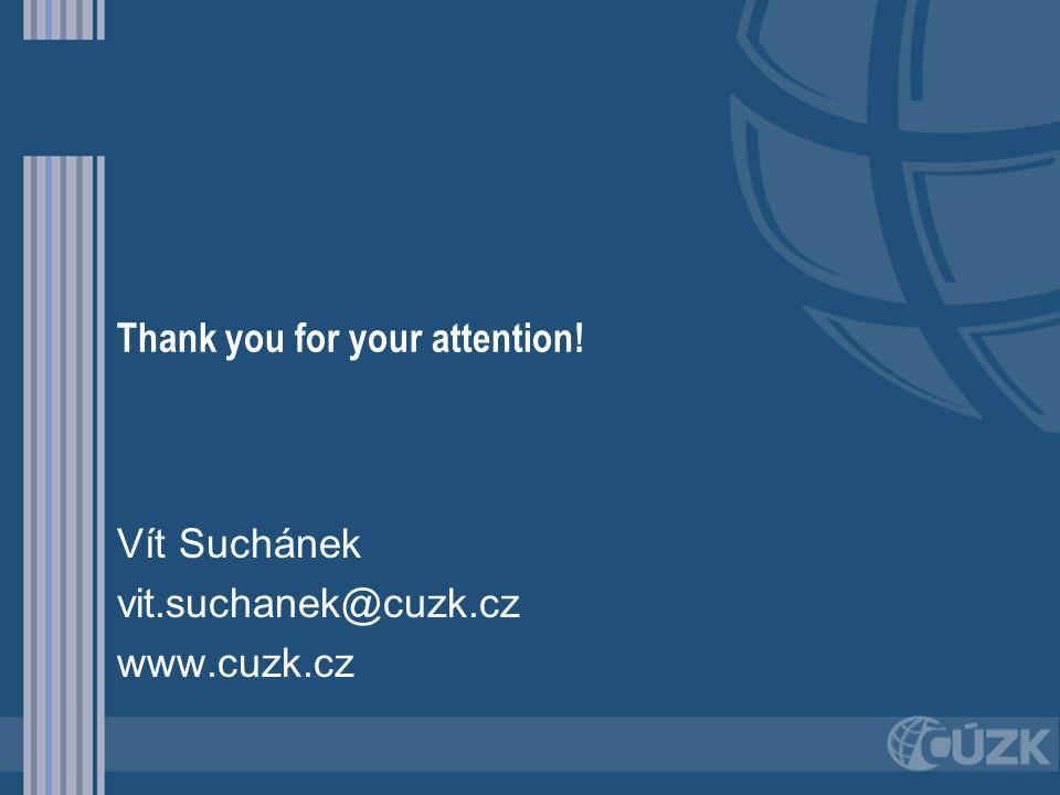 Thank you for your attention! Vít Suchánek vit.suchanek@cuzk.cz www.cuzk.cz
