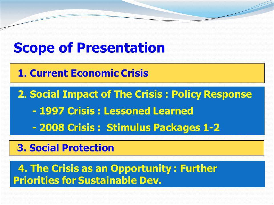 Scope of Presentation 1. Current Economic Crisis 2.