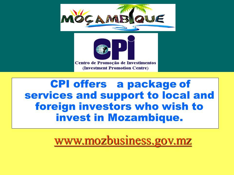 Centro de Promoção de Investimentos Main Characteristics of the Investment Climate Mozambique Paris 03 OCT 2003
