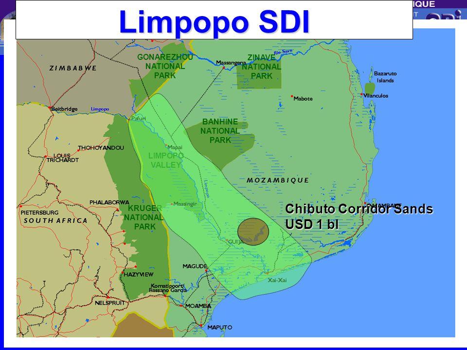 Centro de Promoção de Investimentos Natural Gas Pipeline Sishen BEIRA Maputo (Mozal, MISP) Field Dev., Power Station, Transmission ~US$ 2 bn Pipeline