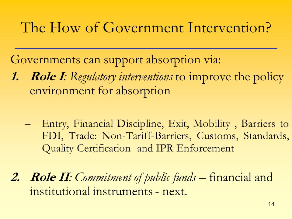 14 The How of Government Intervention.
