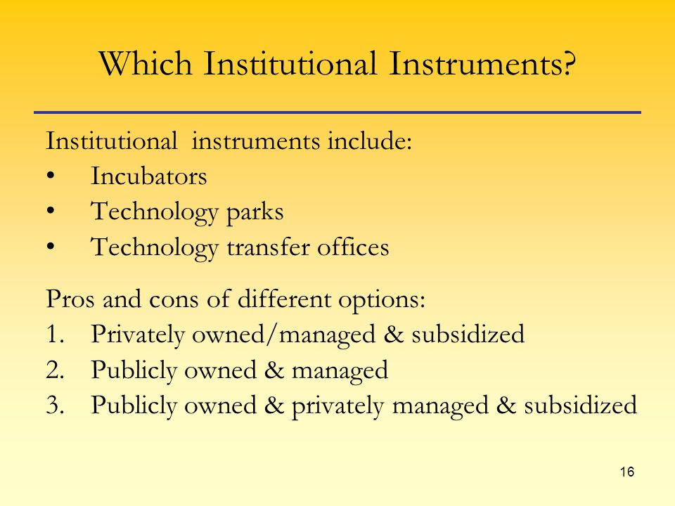 16 Which Institutional Instruments.