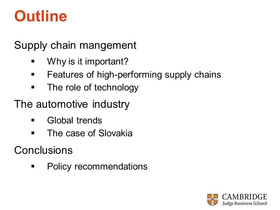 Outline Supply chain mangement Why is it important.