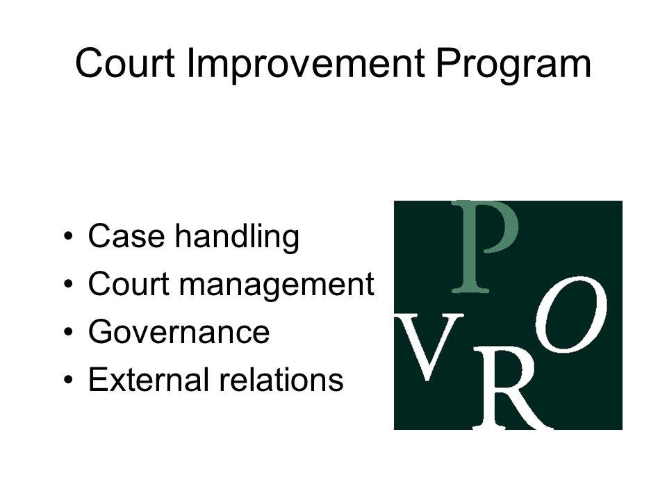 Court Improvement Program Case handling Court management Governance External relations