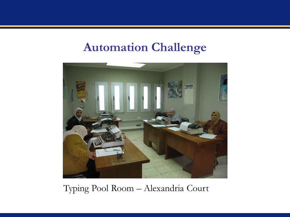 Automation Challenge Typing Pool Room – Alexandria Court
