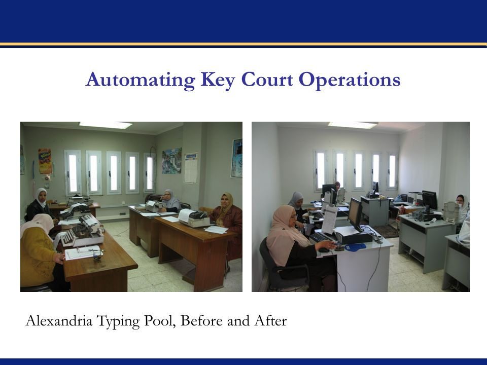 Automating Key Court Operations Alexandria Typing Pool, Before and After