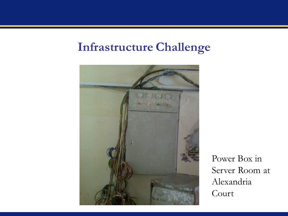 Infrastructure Challenge Power Box in Server Room at Alexandria Court