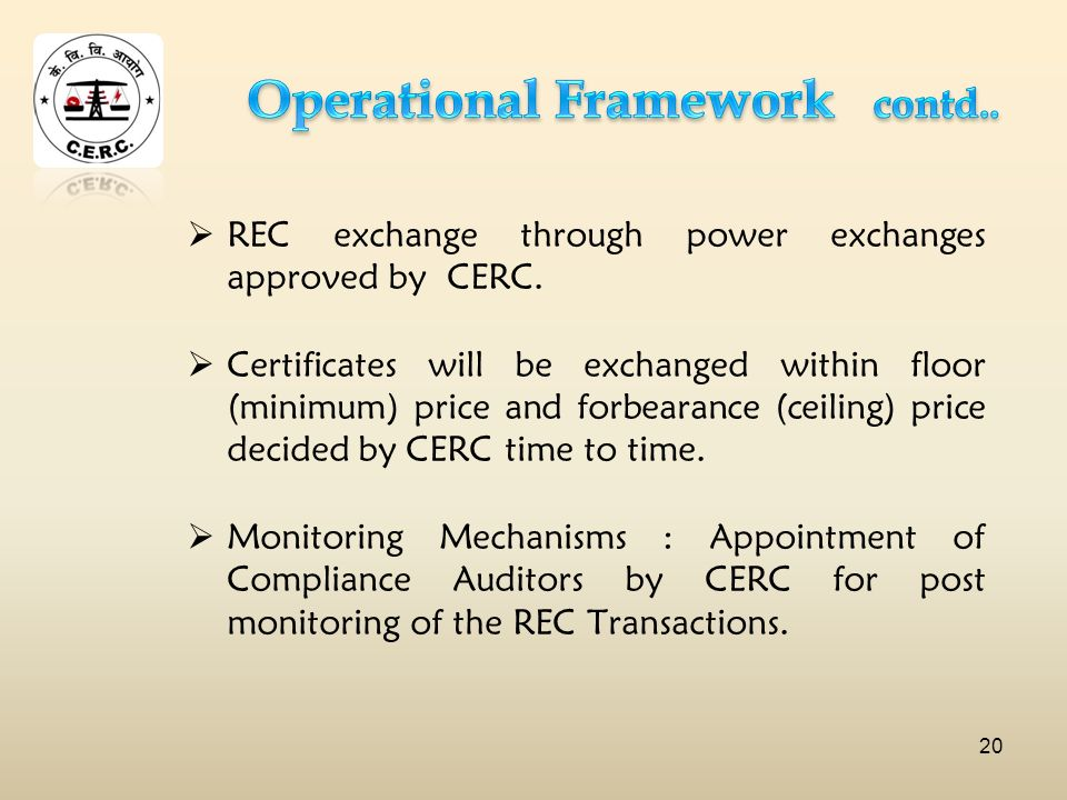 REC exchange through power exchanges approved by CERC.