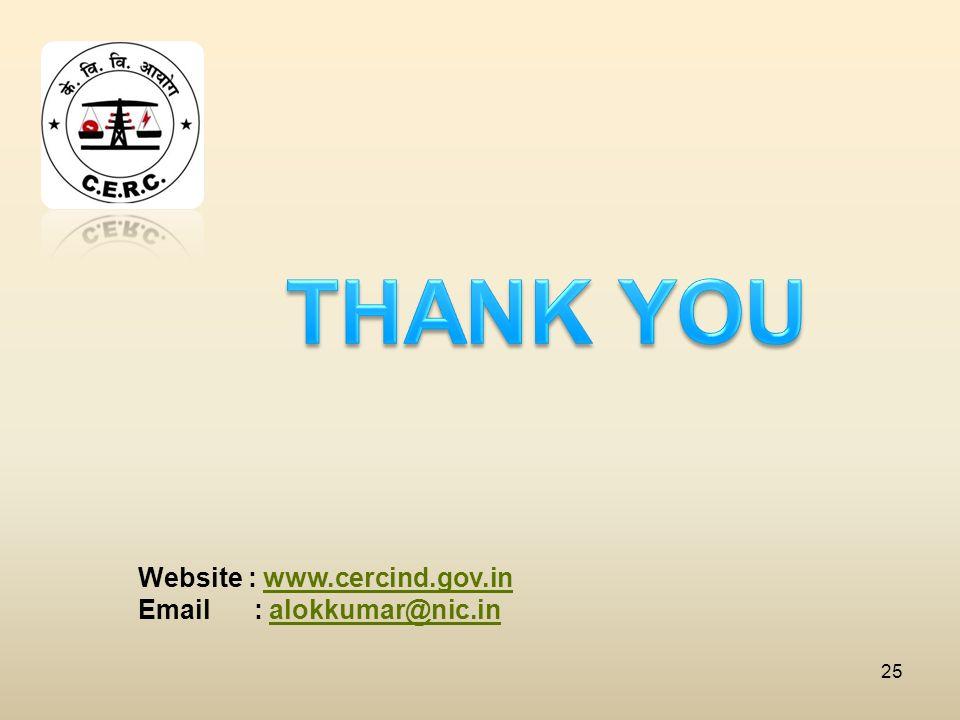 25 Website : www.cercind.gov.inwww.cercind.gov.in Email : alokkumar@nic.inalokkumar@nic.in
