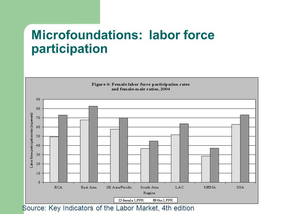 Microfoundations: labor force participation Source: Key Indicators of the Labor Market, 4th edition