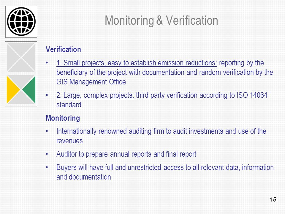 15 Monitoring & Verification Verification 1.