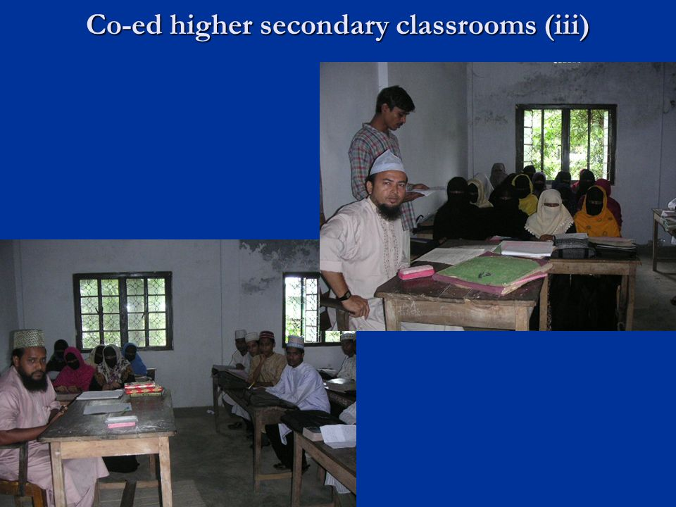 Co-ed higher secondary classrooms (iii)