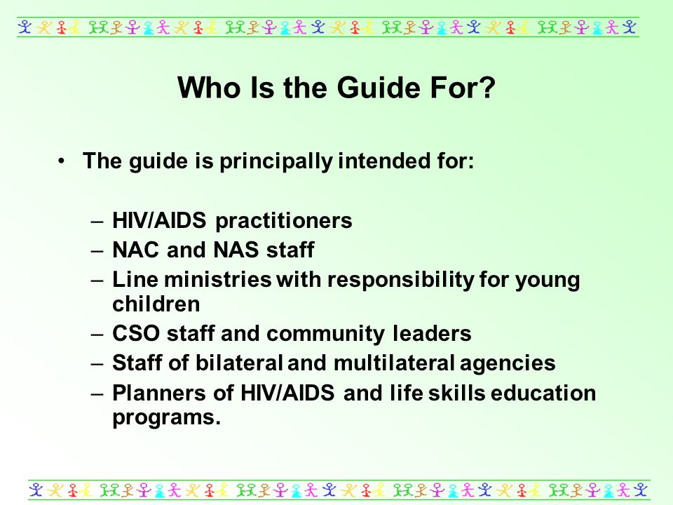 Who Is the Guide For.