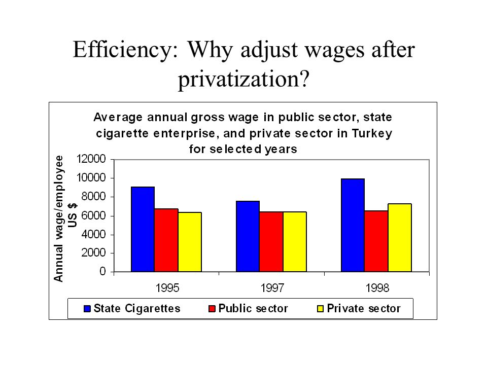 Efficiency: Why adjust wages after privatization
