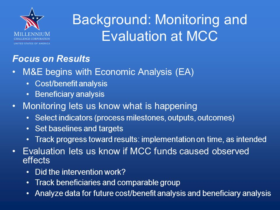 How does MCC decide when an evaluation is needed.Need: Is there established evidence.