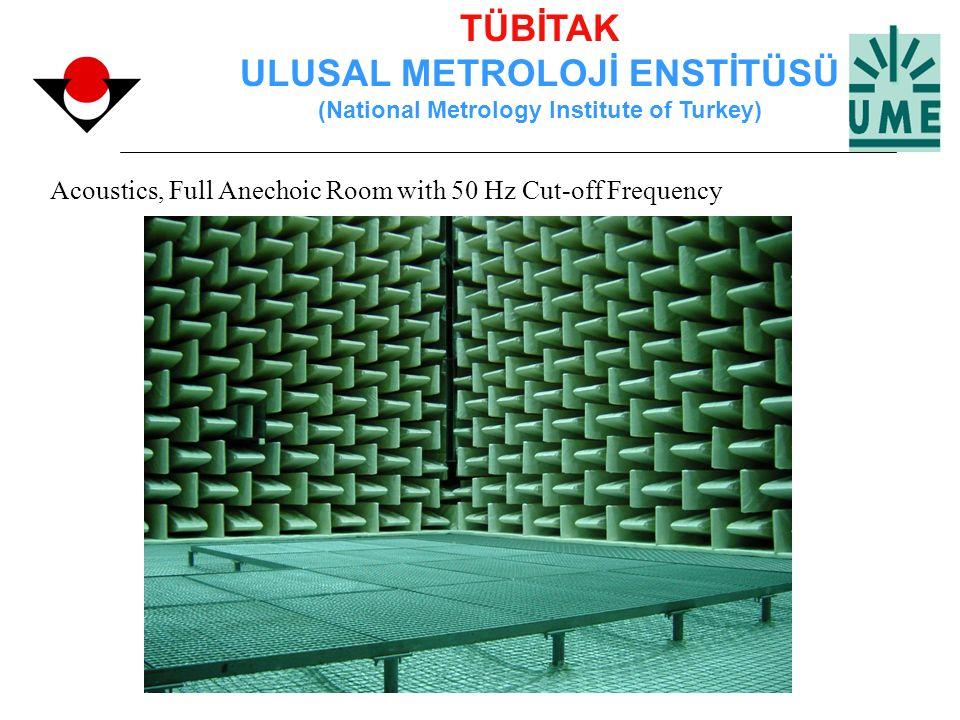 TÜBİTAK ULUSAL METROLOJİ ENSTİTÜSÜ (National Metrology Institute of Turkey) Acoustics, Full Anechoic Room with 50 Hz Cut-off Frequency
