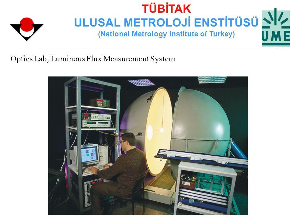 TÜBİTAK ULUSAL METROLOJİ ENSTİTÜSÜ (National Metrology Institute of Turkey) Optics Lab, Luminous Flux Measurement System