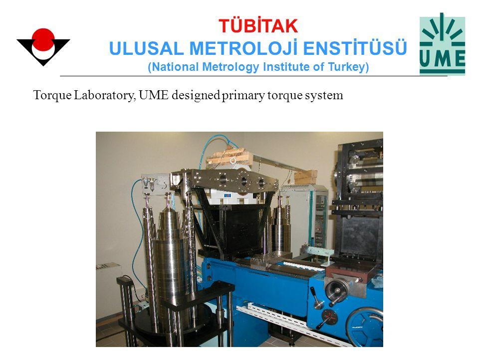 TÜBİTAK ULUSAL METROLOJİ ENSTİTÜSÜ (National Metrology Institute of Turkey) Torque Laboratory, UME designed primary torque system