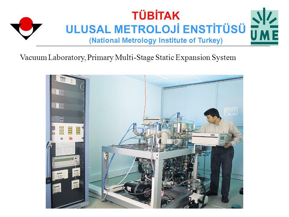 TÜBİTAK ULUSAL METROLOJİ ENSTİTÜSÜ (National Metrology Institute of Turkey) Vacuum Laboratory, Primary Multi-Stage Static Expansion System
