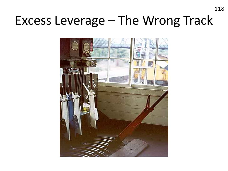 Excess Leverage – The Wrong Track 118