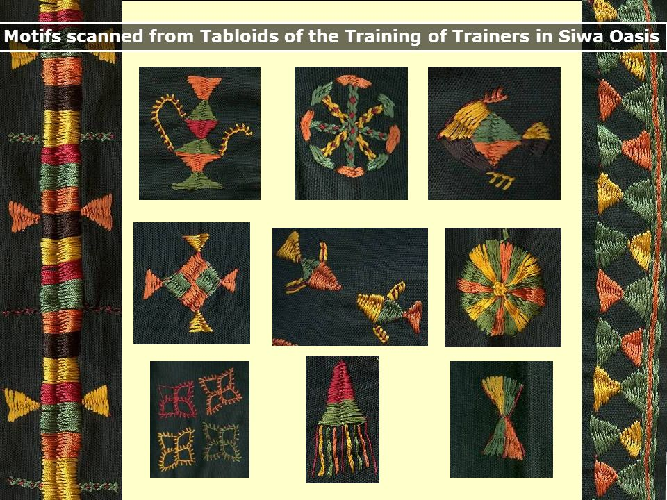 Motifs scanned from Tabloids of the Training of Trainers in Siwa Oasis
