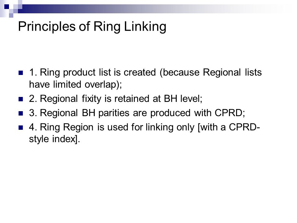 Principles of Ring Linking 1.