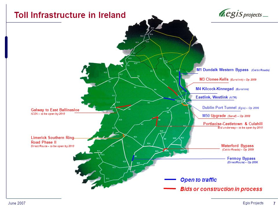 Egis Projects June Operations and ETC Services Key references France – A28 motorway, ALIS 125 km toll motorway in Normandy – supply, installation, systems integration and maintenance of toll equipment and associated control, signals and back office systems Australia – Sydney M2 motorway 22 km urban toll motorway with AADT, transactions/day, ETC tags issued – scope includes customer services and full front end back-office management Athens Ring Road, Greece – Motorway of the Olympics 65 km urban toll motorway with high AADT, transactions/day, accounts, tags issued Philippines – North Luzon Expressway 84 km urban and inter-urban toll motorway with AADT and transaction/day in urban section