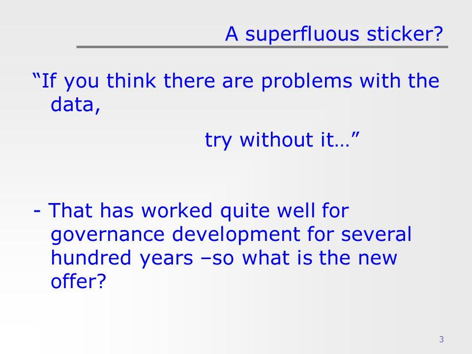 3 A superfluous sticker.