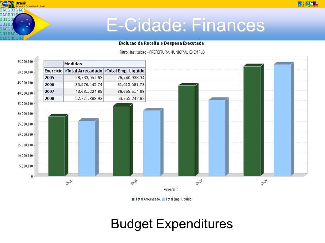 E-Cidade: Finances Budget Expenditures
