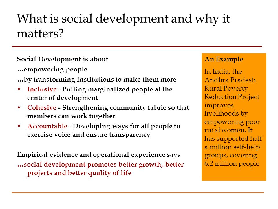 What is social development and why it matters.