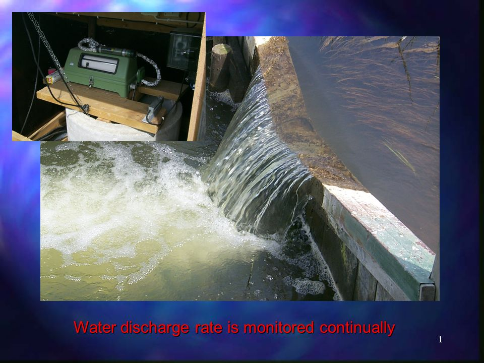 1 Water discharge rate is monitored continually