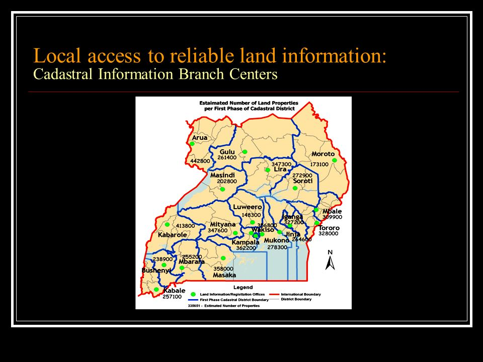 Local access to reliable land information: Cadastral Information Branch Centers