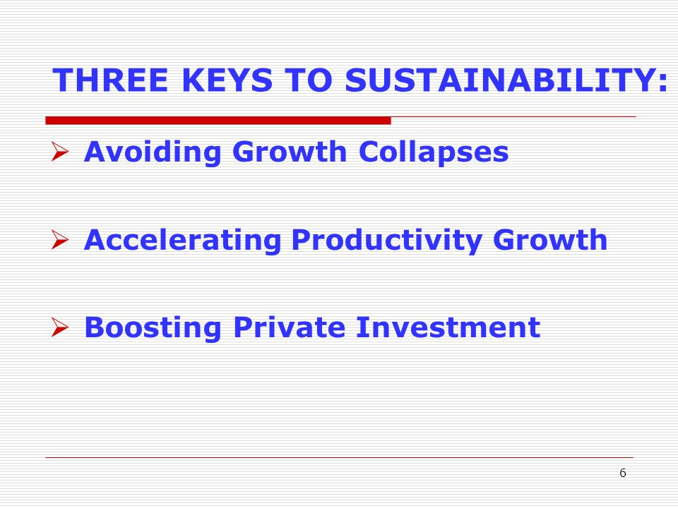 7 WHY TRADE? CREATING AN EXPORT PUSH TO SUSTAIN GROWTH Export Performance Export Diversification