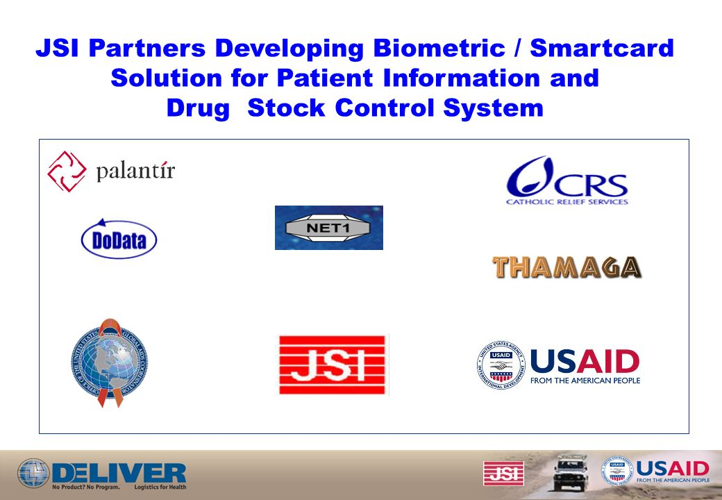 JSI Partners Developing Biometric / Smartcard Solution for Patient Information and Drug Stock Control System