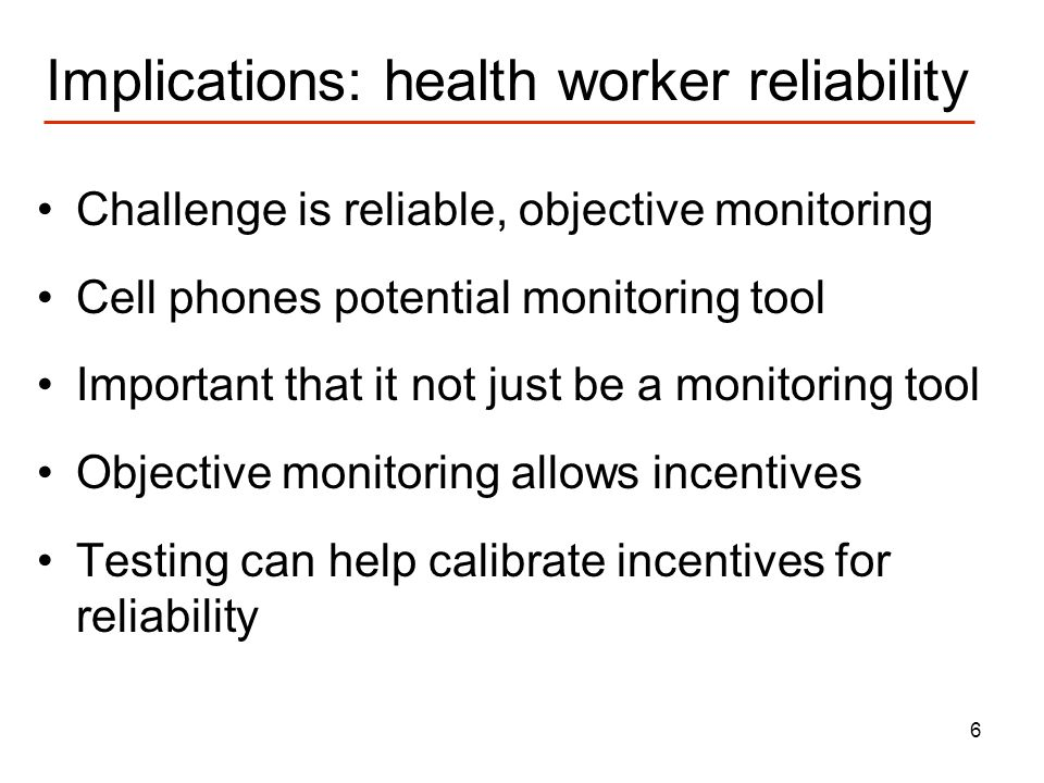 7 Applying the Lessons: X out TB Increased compliance with TB drug regimes critical to health and preventing spread of MDRTB TB compliance classic example of patient and health worker problems failures –Benefits are a long way off, pain is now –DOTS relies on reminders by health works, often unreliable X out TB seeks to solve this by –Reminderphone rings to remind patient to take pill –Monitoringurine strips generate code if patient has been taking their meds) –Less reliance on workersmonitoring done by patient and phone –Deadlinepatient enters code by SMS before deadline –Up front incentivespatient receives free minutes if correct code entered before deadline Testing can calibrate size of incentives needed for compliance