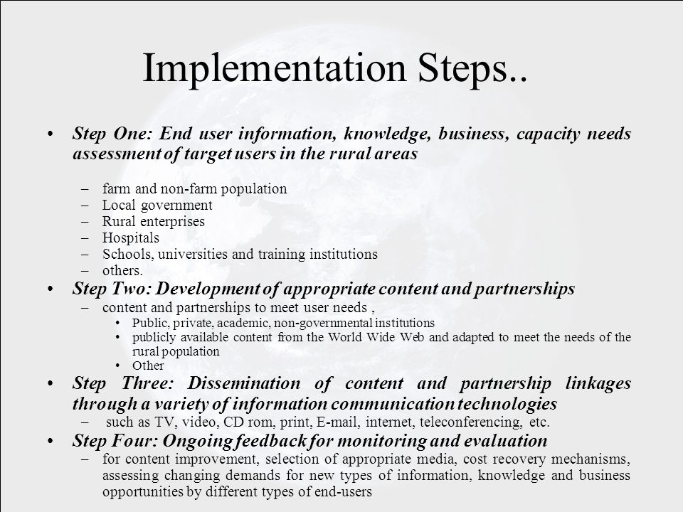 Implementation Steps..