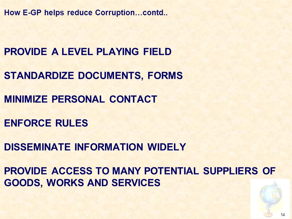 HOW E-GP HELPS REDUCE CORRUPTION.