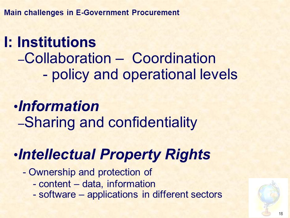 17 Main challenges in E-Government Procurement ICTICT