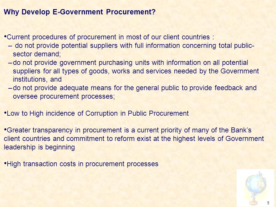 4 What is E-Government Procurement.