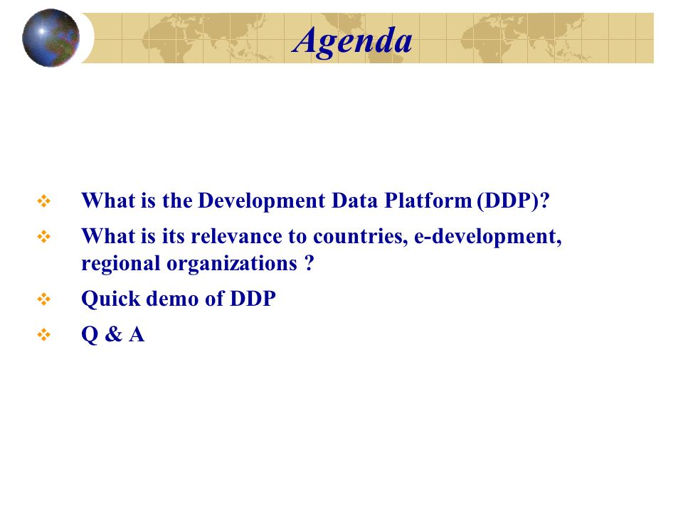 What is the Development Data Platform (DDP).