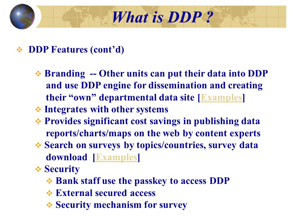 What is DDP .