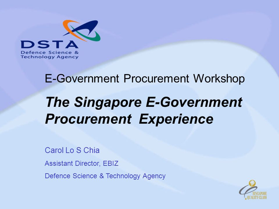 E-Procurement Methods in GeBIZ Small Value Purchase –for estimated purchase value up to S$3,000 Invitation To Quote (ITQ) –for estimated purchase value up to S$70,000 Invitation To Tender (ITT) –for estimated purchase value greater than S$70,000 Catalogue Buy - Purchase off Established Period Contract through Electronic Catalog Printed Catalog Framework Agreement (FA) –Request For Quotation (RFQ)